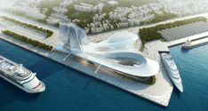 Keelung Gateway Port Terminal Keelung   Asymptote Architecture - Arch2O.com