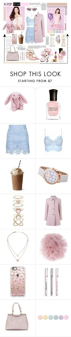 """""""KPOP STAR"""" by fashion-unit ❤ liked on Polyvore featuring Jellycat, Deborah Lippmann, Topshop, Accessorize, Folio, RED Valentino, Michael Kors, Fleur du Mal, Casetify and A-Morir by Kerin Rose"""