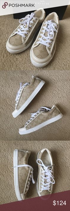 Coach Sneaker Classic CC Patten Coach sneaker. Size 7.5.  Brand new with box. Only tried them on in store. Never worn after I brought them home. Coach Shoes Sneakers