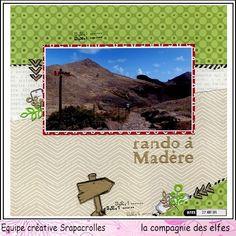 Scrap vacances à Madère, Tampons La compagnie des elfes. #madera #rubberstamp #stempel #scrapbooking #travel