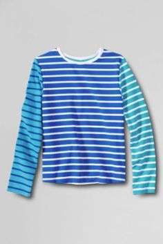 Girls' Long Sleeve Printed Swim Tee Rash Guard from Lands' End