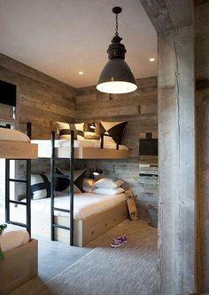 Loft bed in the nursery 100 cool bunk beds for kids Jugendzimmer für Teenager Bunk Beds Built In, Modern Bunk Beds, Cool Bunk Beds, Kids Bunk Beds, Loft Beds, Full Size Bunk Beds, Double Bunk Beds, Decoracion Vintage Chic, Bunk Rooms