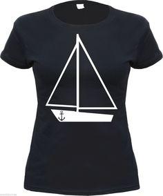Segelschiff Motivshirt in schwarz