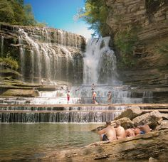 Cummins Falls State Park, Cookeville, TN - Places to Visit by jillian Supporting Clarksville Local Vacation Places, Vacation Destinations, Dream Vacations, Vacation Spots, Places To Travel, Summer Vacations, Cummins Falls State Park, Cummins Falls Tennessee, Falls Park