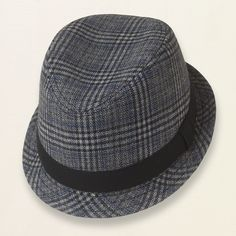 plaid fedora