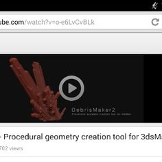 DebrisMaker2 - Procedural geometry creation tool for 3dsMax - YouTube