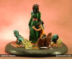 Jaakuna Ubame, First Edition. Model by Wyrd Miniatures, painted by Stinkmunk (November 2013). #Malifaux