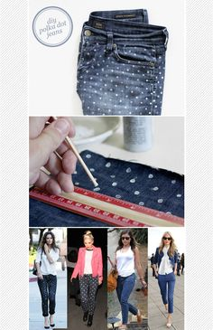 Maiko Nagao - diy, craft, fashion + design blog: DIY Polka dot jeans