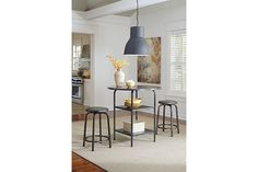 Gray Hattney Counter Height Dining Room Table View 2