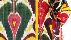 """Currently on display at the The Textile Museum, an exhibition entitled """"Colors of the Oasis"""" featuring Central Asian Ikats."""