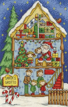 Counted cross stitch kit by DMC featuring a very colourful scene of children…