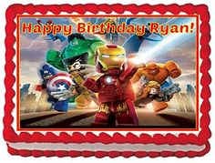 Lego Marvel Heroes Personalized Edible Cake Topper Image  14 Sheet >>> Check out this great product.Note:It is affiliate link to Amazon.