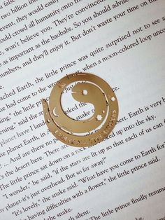 Re:The Little Prince - The Snake Brass Bookmark. BY: e-De-SIGN STUDIO