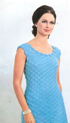 DRESS  Crochet  Shell Stitch Dress Pattern by suerock on Etsy, $3.99
