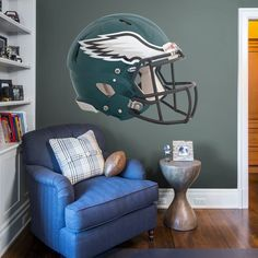 f05a63795 Philadelphia #eagles: Helmet - Huge Officially Licensed NFL Removable Wall  Decal Fathead Wall Decal