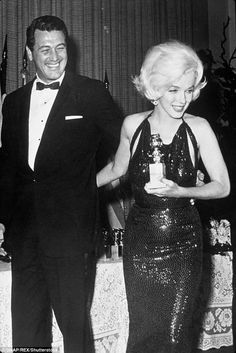 Rock Hudson & Marilyn Monroe at the Golden Globes 1962 Hollywood Icons, Old Hollywood Glamour, Golden Age Of Hollywood, Vintage Hollywood, Hollywood Stars, Classic Hollywood, Fotos Marilyn Monroe, Divas, Glamour Hollywoodien