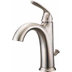 Azhara AZTR211E-PUBN Lorea Brushed Nickel One Handle Bathroom Faucets |eFaucets.com