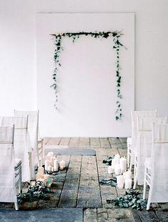 Idée simple et pas chère pour cérémonie en intérieur