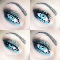 Blue lagune - #blueshadow #eyemakeup #eyes #blue #agnieszka8688 - Bellashoot.com (iPhone, iPad & Web)