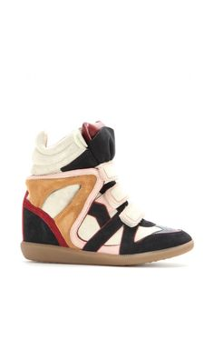 Isabel Marant Wila Concealed Wedge Suede Sneakers Antracite - Isabel Marant
