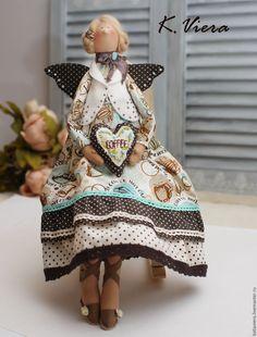 Купить Кофейная фея Тильда - тильда тильда, тильда кукла, коричневый, тильда стиль, кофе