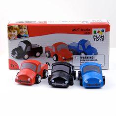 Wooden Toy Mini Trucks