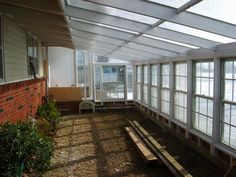 Inside of attached greenhouse