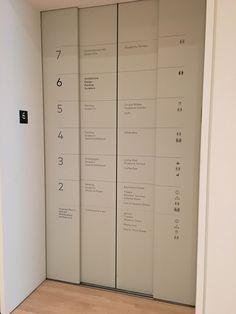 Accesibilidad y originalidad. Señalética en las puertas del ascensor en el Museo de Arte Moderno de San Francisco ( (SFMOMA).