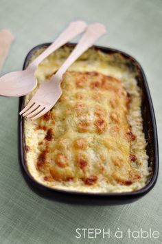 Gratin de ravioles au saumon fumé et courgettes | Steph à table