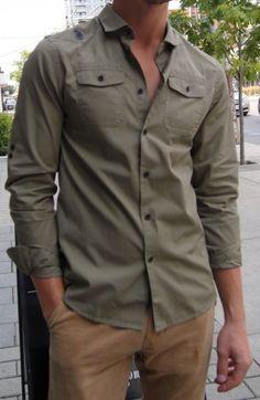 United Kingdom of Luke military shirt $110 at Gotstyle Menswear.