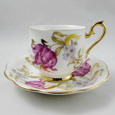 Royal Albert Tea Cup and Saucer with Flowers Hampton Shape