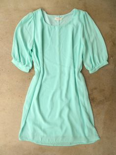 A Shift in Mint Dress