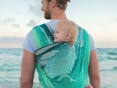 Wild silk, cotton and organic combed cotton Okinami Wipeout Baby Wrap by Oscha Slings.