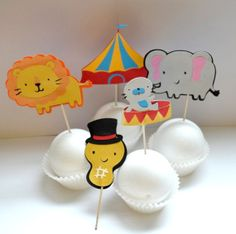 Decoration Cupcake Toppers | Circus cupcake toppers in Decoration stuff for cupcakes and muffins