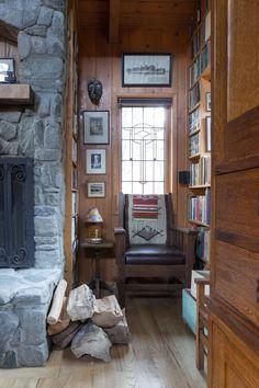 Artist John Frame's Introspective Mountain Cabin