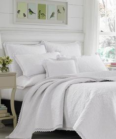 Another great find on #zulily! White Heirloom Crochet Quilt Set #zulilyfinds