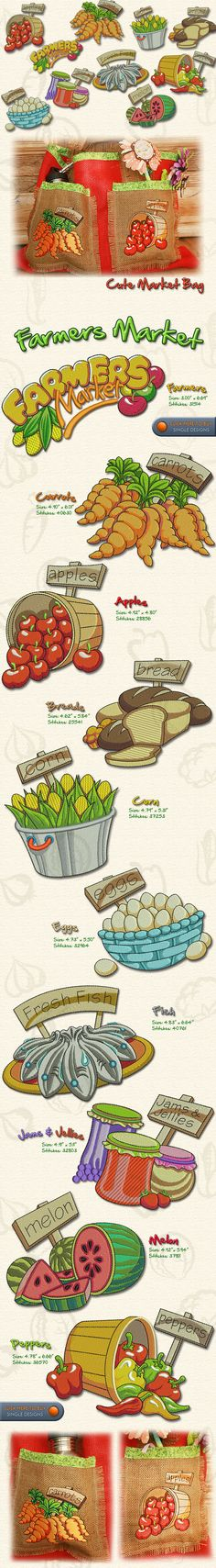 FARMERS MARKET, Embroidery Designs Free Embroidery Design Patterns Applique