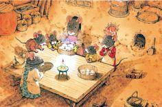"""Kazuo Iwamura «14 лесных мышей»   """"Картинки и разговоры"""""""
