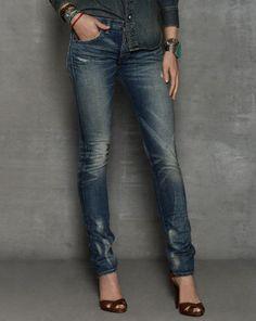 Rockford-Wash Skinny Jean - RRL Straight-Leg - RalphLauren.com