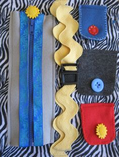 Zipper, Snaps, and Button Quiet Book Book Page