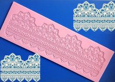 LC35 Instant Lace Mold Lace Fondant Cupcake by SweetCakeMoulds, $12.88