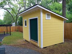 159 Free DIY Storage Shed Plans, Ideas and Designs - Gartenhaus diy Backyard Sheds, Outdoor Sheds, Backyard Storage, Diy Storage Shed Plans, Storage Sheds, Diy Shed Kits, Small Shed Plans, Build Your Own Shed, Modern Shed