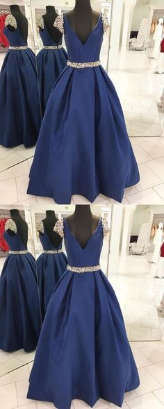 Navy Blue Prom Dress, Back To School Dresses, Prom Dresses For Teens, Pageant Dress, Graduation Party Dresses BPD0576 #dressesforteens #dressforteenscasual