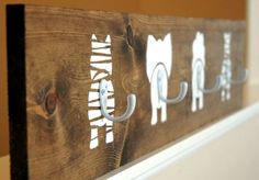 Decorate a baby's nursery with this wildly adorable coat rack. - www.bigdiyideas.com/