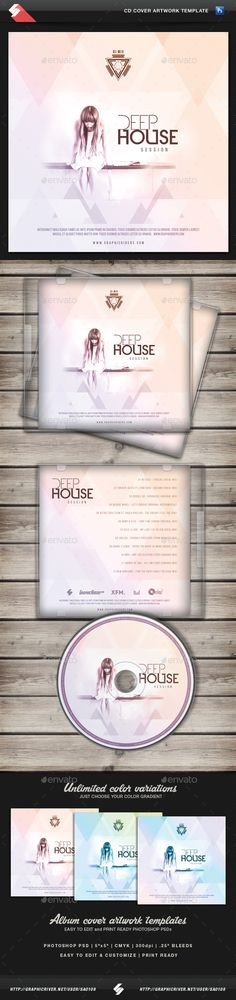 Deep House Session - CD Cover Template PSD. Download here: http://graphicriver.net/item/deep-house-session-cd-cover-template/11876283?ref=ksioks