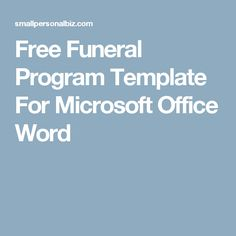 Template136ao8 Memorial Pinterest Funeral And Microsoft Publisher
