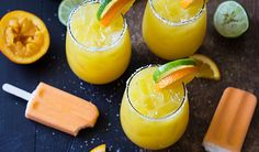 Creamy orange margaritas that taste like a creamsicle!