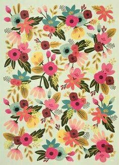 Floral vintage. *-* #tendencia #estampa #color