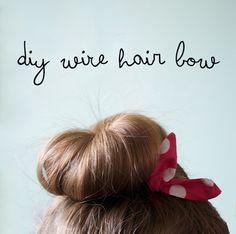 DIY wire hair bows