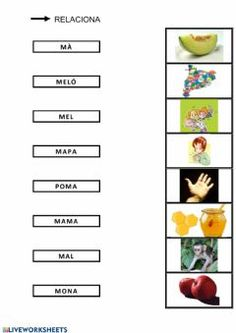 Vocabulari P-MIdioma: catalánCurso/nivel: Infantil CI NEEAsignatura: LectoescripturaTema principal: Vocabulari amb les lletres P-MOtros contenidos: Spanish Lessons For Kids, School Subjects, Your Teacher, Google Classroom, Worksheets, Triangle, Pdf, Ideas, Kids Activities At Home